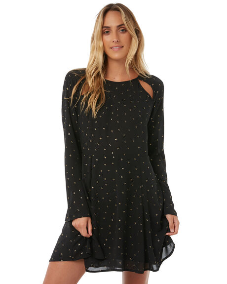 BLACK WOMENS CLOTHING RUSTY DRESSES - DRL0899BLK
