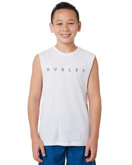 WHITE KIDS BOYS HURLEY TOPS - BTTTEASG100