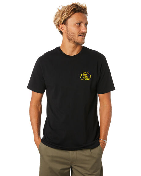 BLACK MENS CLOTHING DEPACTUS TEES - D5193006BLACK