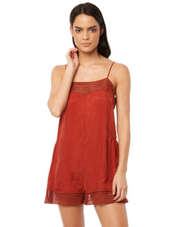 RED WOMENS CLOTHING TIGERLILY PLAYSUITS + OVERALLS - T381435RED