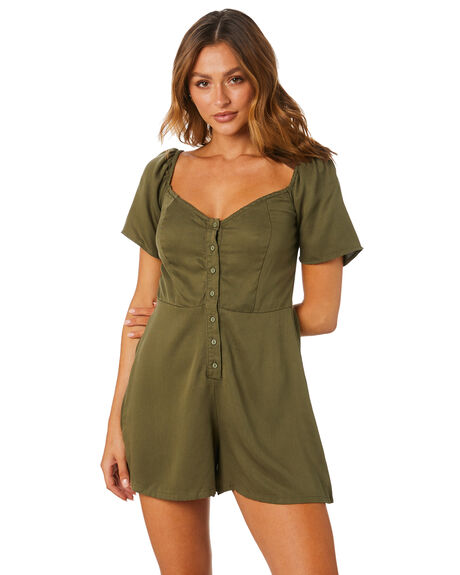 KHAKI OUTLET WOMENS ALL ABOUT EVE PLAYSUITS + OVERALLS - 6464268KHAK