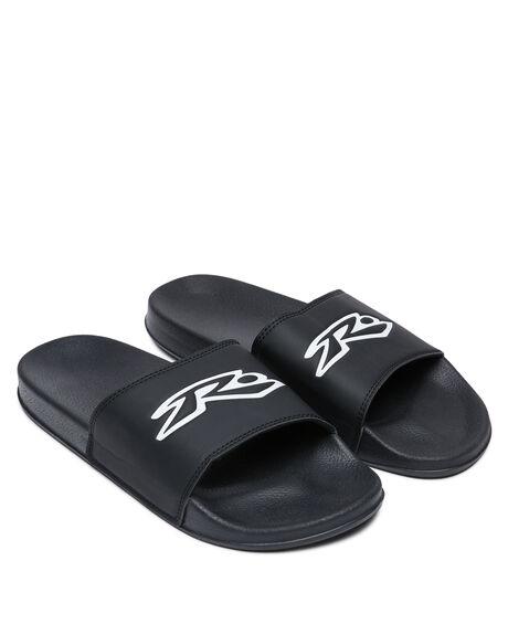 BLACK MENS FOOTWEAR RUSTY SLIDES - FOM0346-BLK