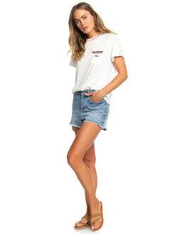 MARSHMALLOW WOMENS CLOTHING ROXY TEES - ERJZT04589-WBT0