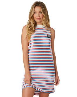 CALI STRIPE WOMENS CLOTHING SANTA CRUZ DRESSES - SC-WDD8726CALIS