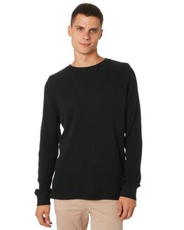 BLACK MENS CLOTHING ACADEMY BRAND JUMPERS - 19W418BLK