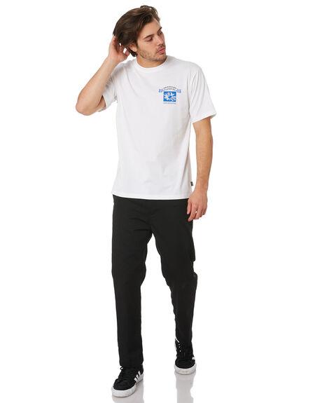 WHITE BLUE BLACK MENS CLOTHING ADIDAS TEES - EC7298WHBLU