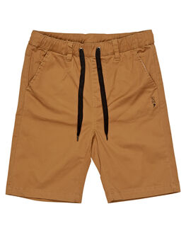 TAN KIDS BOYS ALPHABET SOUP SHORTS - AS-KWC8346TAN