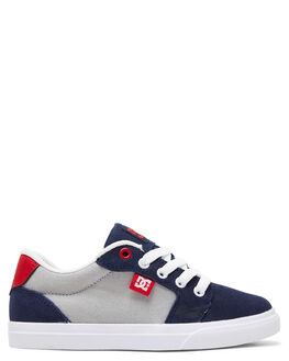 GREY/RED/WHITE KIDS BOYS DC SHOES SNEAKERS - ADBS300245-XSRW