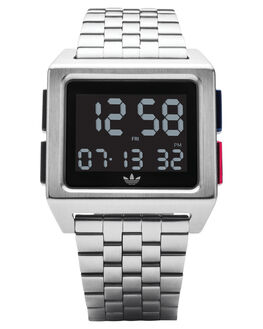 SILVER BLACK BLUE MENS ACCESSORIES ADIDAS WATCHES - Z01-2924-00SBLKBR