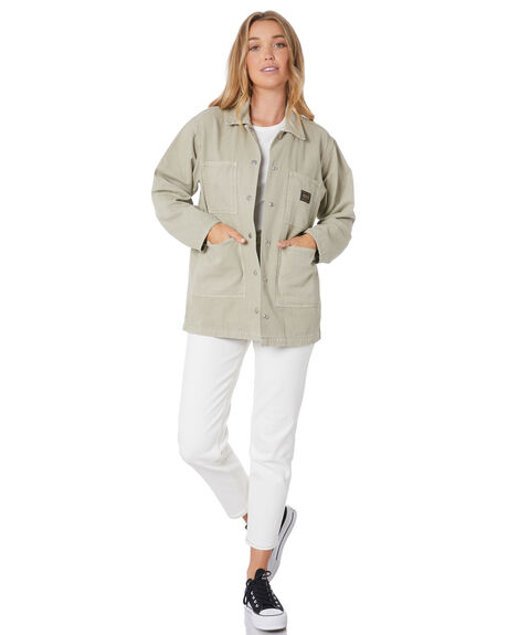 MUSHROOM WOMENS CLOTHING STUSSY JACKETS - ST105702MUSH