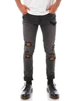 VINTAGE BLACK MENS CLOTHING THRILLS JEANS - TDP-402VBVBLK