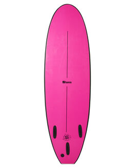BLACK FLURO PINK BOARDSPORTS SURF FOAMIE SOFTBOARDS - F6BLACKBKFPNK