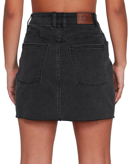 BLACK WOMENS CLOTHING RVCA SKIRTS - RV-R405831-BLK