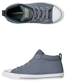 COOL GREY KIDS BOYS CONVERSE SNEAKERS - 661890CGRY