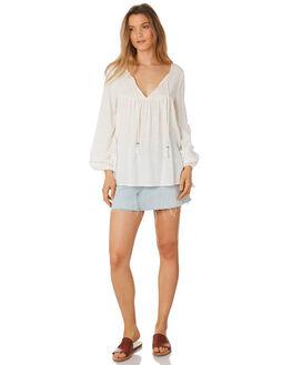 WHITE WOMENS CLOTHING TIGERLILY FASHION TOPS - T395033WHT