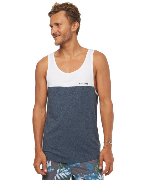 WHITE MENS CLOTHING RIP CURL SINGLETS - CTEIT21000