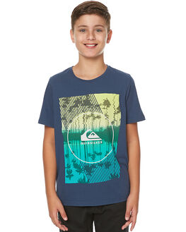 DARK DENIM KIDS BOYS QUIKSILVER TEES - EQBZT03527BRQ0