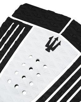 BLACK WHITE BOARDSPORTS SURF FAR KING TAILPADS - 1201BBKWHT