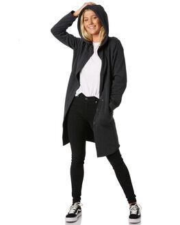 BLACK HEATHER WOMENS CLOTHING HURLEY JACKETS - 941330032
