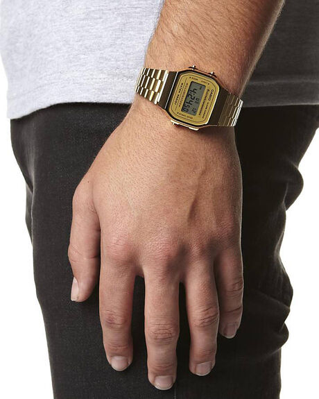 GOLD MENS ACCESSORIES CASIO WATCHES - A168WG-9GLD