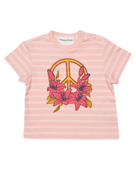 PINK STRIPE KIDS BABY PUMPKIN PATCH CLOTHING - 20B8002TPNKST