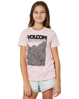DUSTY ROSE KIDS GIRLS VOLCOM TEES - B35218Y1DRO