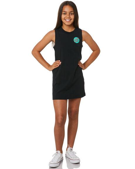 BLACK KIDS GIRLS SANTA CRUZ DRESSES + PLAYSUITS - SC-GDD0328BLK