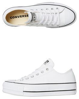 WHITE WOMENS FOOTWEAR CONVERSE SNEAKERS - 561680WHT