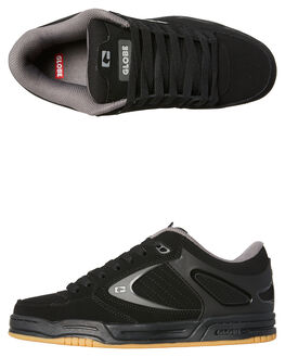 BLACK MENS FOOTWEAR GLOBE SKATE SHOES - GBAGENTBLK