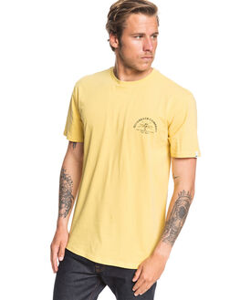 MISTED YELLOW MENS CLOTHING QUIKSILVER TEES - EQYZT05703-YHL0