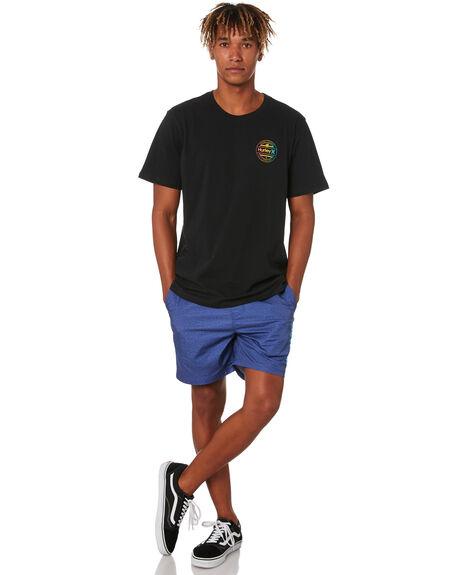 BLACK MENS CLOTHING HURLEY TEES - CW5725010