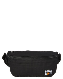 BLACK MENS ACCESSORIES THE BUMBAG CO BAGS + BACKPACKS - PB001BLK