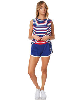 POP BLUE WOMENS CLOTHING SANTA CRUZ SHORTS - SC-WWC7389PBLU