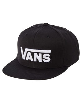BLACK WHITE MENS ACCESSORIES VANS HEADWEAR - VNA36ORY28BLKWH