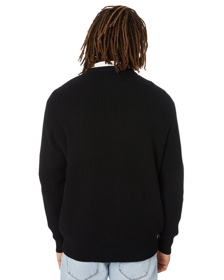BLACK MENS CLOTHING BARNEY COOLS KNITS + CARDIGANS - 400-0621BLK