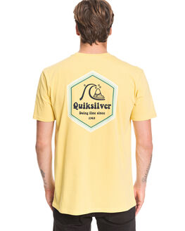 MISTED YELLOW MENS CLOTHING QUIKSILVER TEES - EQYZT05676-YHL0