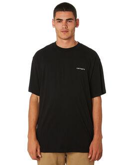 BLACK MENS CLOTHING CARHARTT TEES - I025778BLK