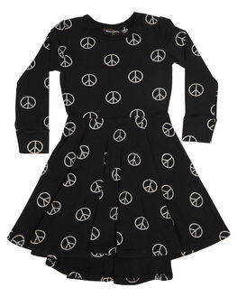 PRINT KIDS TODDLER GIRLS ROCK YOUR BABY DRESSES - TGD1866-POPRNT