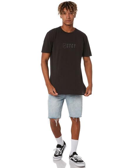 BLACK MENS CLOTHING STCY MFG TEES - STTEETEAMBLK