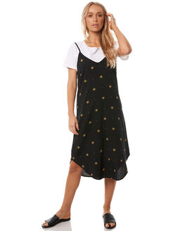 BLACK STARDUST WOMENS CLOTHING ALL ABOUT EVE DRESSES - 6413018BLK