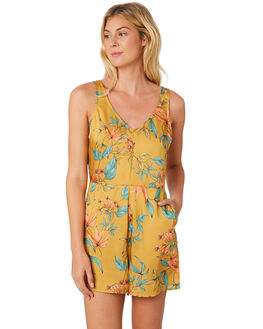 TROPICAL PRINT WOMENS CLOTHING ALL ABOUT EVE PLAYSUITS + OVERALLS - 6424074PRNT