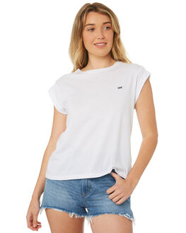 WHITE WOMENS CLOTHING LEE TEES - L-651076-060WHT