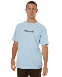 POWDER BLUE MENS CLOTHING PASS PORT TEES - BRICKTPBLU