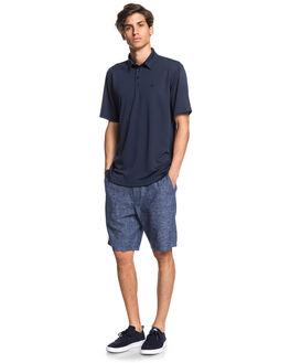 NAVY IRIS MENS CLOTHING QUIKSILVER SHIRTS - EQMKT03046-BTL0