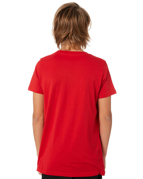 RED KIDS BOYS AS COLOUR TOPS - 3006RED