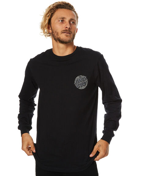 BLACK MENS CLOTHING SANTA CRUZ TEES - SC-MLB7510BLK