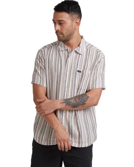 KHAKI MENS CLOTHING RVCA SHIRTS - R315183-K01