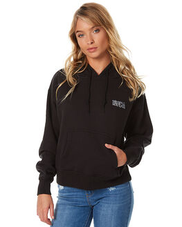BLACK WOMENS CLOTHING RVCA JUMPERS - R273158BLK
