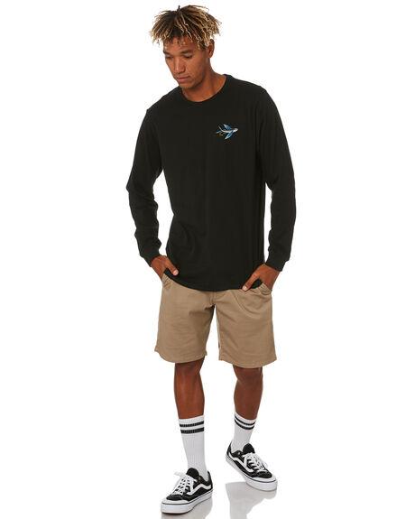 BLACK MENS CLOTHING DEPACTUS TEES - D5203101BLACK