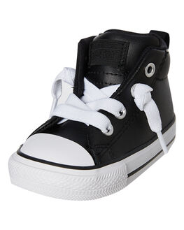 BLACK KIDS BOYS CONVERSE FOOTWEAR - 763836CBLK